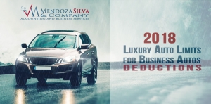 2018 Luxury Auto Limits for Business Auto Deductions